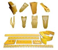 Excavator, backhoe, bulldozer spare parts teeth, adaptor, tooth, cutting edge, end bit